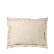 Ralph Lauren Pillow Sham Standard Fleur Du Roi Tan Gold 100% Cotton $115... - $59.28