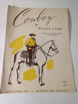 Vintage Sheet Music 1945 Cowboy by Hazel Cobb Great Vintage  Art - $29.45