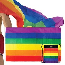The Pride Side Gay Pride Flag Set 3x5 Feet Hangable & Wearable As A Cape... - $20.80