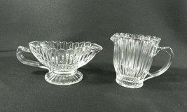 """Mikasa Royal Suite Gravy Boat (6.5"""") Small Creamer Pitcher (3.5"""") Clear ... - $16.82"""