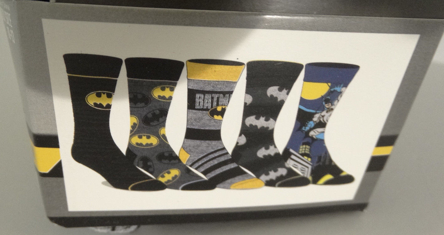Batman Dc Comics 5 Pack Casual Crew Socks