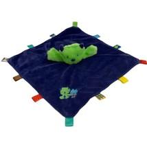 Taggies Monster Alien Plush Green Blue Baby Blanket Security Lovey Rattl... - $19.75