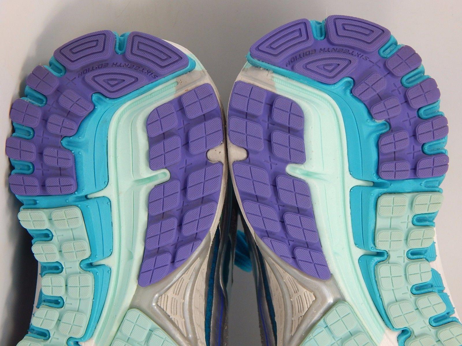 Brooks GTS 16 Women's Running Shoes Sz US 7 M (B) EU 38 Silver Blue 1202031B170