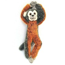 "Russ Berrie GASPARD Monkey Plush Stuffed Animal Bendable Legs 11"" - $13.96"