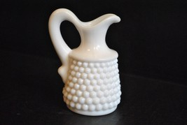 Vintage American Hobnail Milk Glass Cruet without Stopper by Westmoreland - $4.99