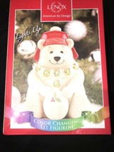 Lenox Christmas Holiday Color Changing Lit Polar bear  Figurine. New In Box - $22.50