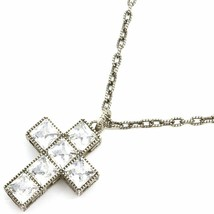 Gucci Cross Necklace Silver from japan - $1,040.48