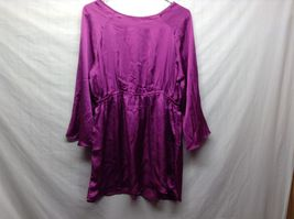 Labor of Love Purple Long Sleeve Maternity Blouse Sz LG image 4