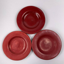 Sausalito Merlot Red Salad Plates Lot of 3 Seconds - $19.79
