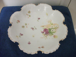 "ROSENTHAL R C MONBIJOU BOWL OLD SCALLOPED RUFFLED BAVARIA GERMANY LARGE 10"" - $19.99"