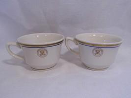 2 ~ Homer Laughlin China US Dept of NAVY tea Coffee MUGS cups restaurant... - $19.99