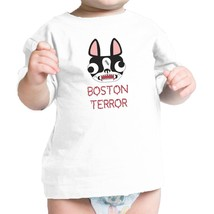 Boston Terror Terrier Baby White Shirt - $13.99