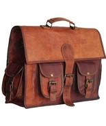 Handmade leather Messenger Bag Briefcase Laptop Messenger Bag For Men - $59.61+