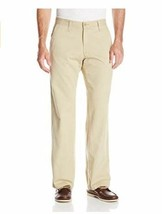 Lee Mens Weekend Chino Straight Fit Flat Front Pant 36X30 NEW - $20.89