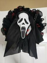 Handmade Scream Halloween Ghost Face Wreath - $40.34
