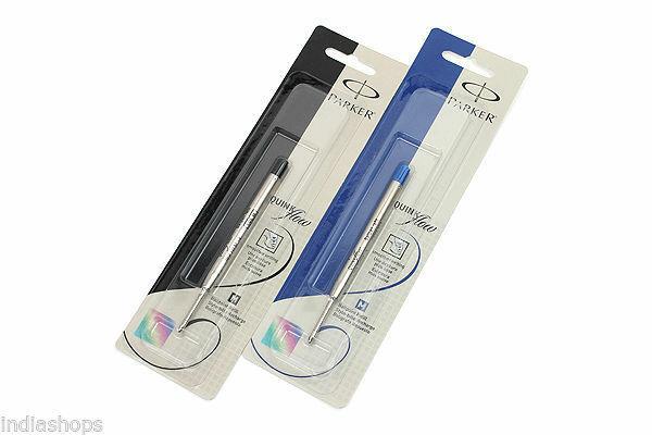 2 Pack COMBO Parker Quink Flow BallPen Refill Medium, 1 Black Ink + 1 Blue Ink