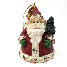 Old World Santa Ornament 3 inch Nordic Roly Poly Ceramic Tree Decor Orna... - $14.01
