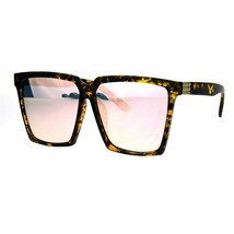 Womens Oversized Sunglasses Square Designer Frame Mirror Lens UV 400 - $11.95