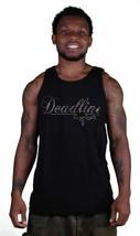 Deadline Black Goyard Maize Script Logo Tank Top Muscle Shirt