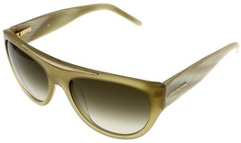 Givenchy Sunglasses Women Brown Stripped Cream Rectangular SGV657 T93  - $177.21