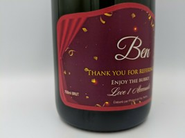 Personalised Champagne, Thank You Gift, thanks, unique, bespoke, persona... - $48.18