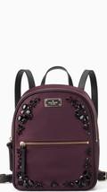 Kate Spade Nwt Small Bradley Wilson Rd Embellished Deep Plum Backpack Nylon - $175.00