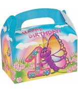 1st B-Day Butterfly Treat Boxes (12 Pack) Butterfly Happy Birthday - $10.44