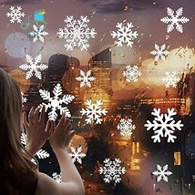 Hasaker 170 Pcs White Snowflakes Window Clings Decal Stickers for Christ... - $12.97