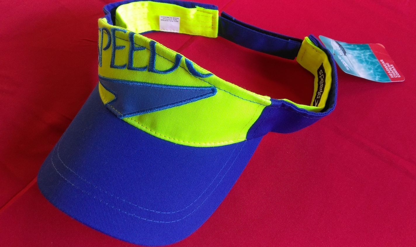 Primary image for Speedo Blue Green Design All Sports Unisex Visor NEW