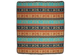 "#3889 Queen Bedspread Wool Blend Reversible Blanket Accent Throw 88""x 96... - $102.43 CAD"