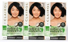 3 Ct Clairol Natural Instincts 2BB Blue Black Lasts 28 Shampoos Hair Color Creme - $26.99