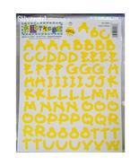 156 Yellow Letters Stickers Acid Free Scrapbooking  - $6.99