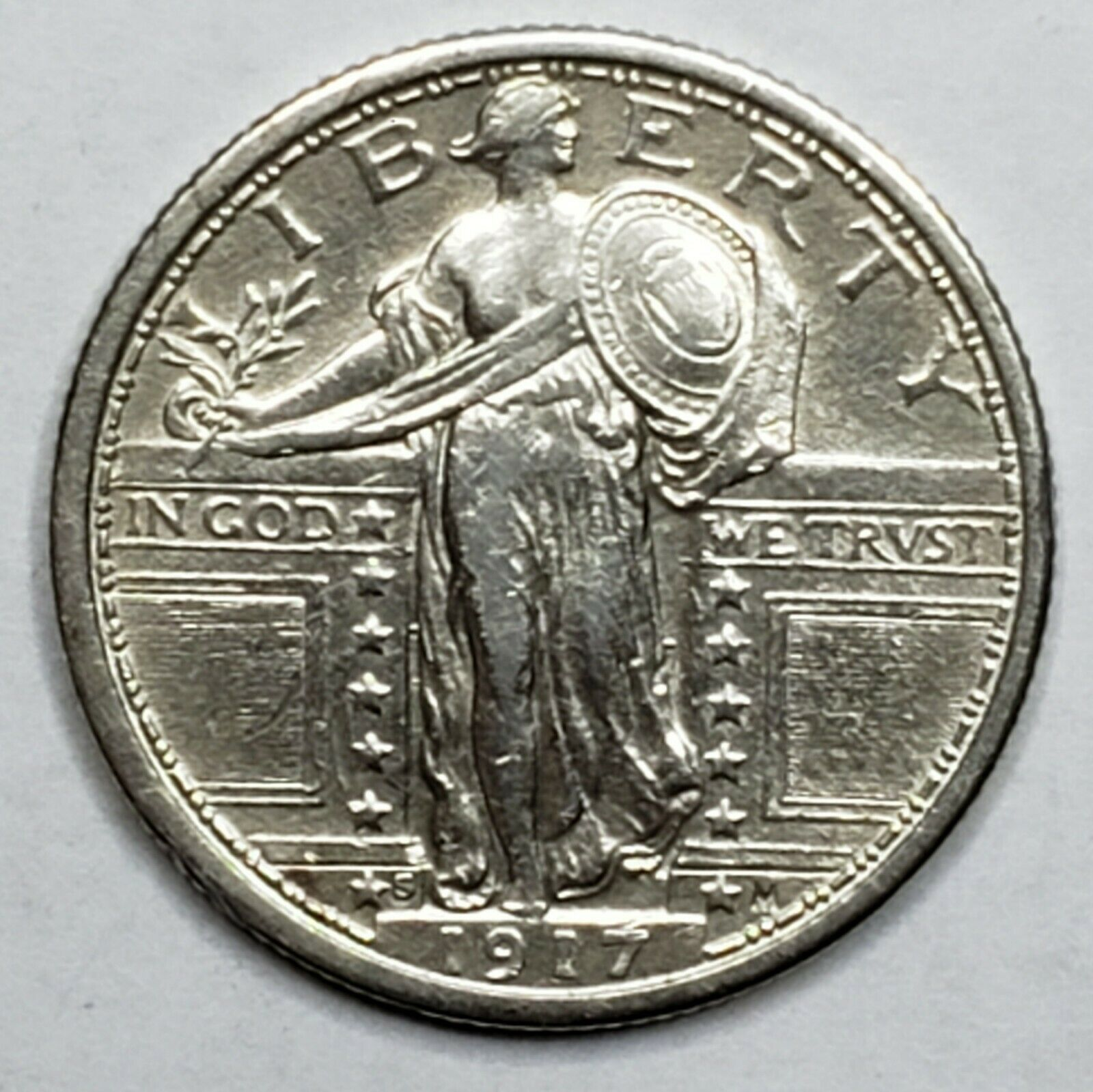 1917S Standing Liberty Silver Quarter Coin Type 1 Lot 519-66