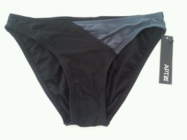 Apt 9 Swim Bikini Scoop Swimwear Bottom Black Gray Size 14  MSRP $40 - $9.99