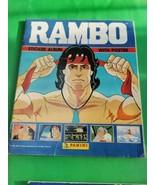 Rambo Sticker Album Panini 1986 100 Stickers on Pages QB - $41.95