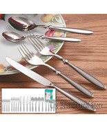 Nikita Forged 18/8 Stainless Steel Flatware Silverware 20pc Set Bistro T... - $35.99