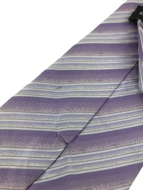 """New KENNETH COLE New York SILK TIE Purple Stripes Men's Neck Tie Designer 59"""""""