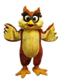 Owl Mascot Costume Adult Costume For Sale