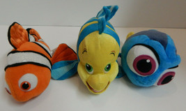 Disney Parks & Store Pixar Finding Nemo Little Mermaid Plush Lot - $19.75