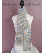 51 Inch Multicolor HandKnit Scarf Childrens Boys Girls Acrylic Ribbed Scarf - $22.00