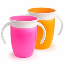 Munchkin Miracle 360 Trainer Cup, Pink/Orange, 7 Ounce, 2 Count - $11.28