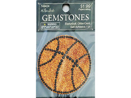 Hobby Lobby Gemstones Self-Adhesive Applique, Basketball #749424