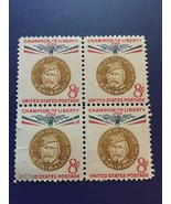 1960  8-cent Champion of Liberty, Giuseppe Garibaldi  - $9.90