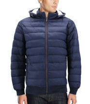 Men's Sherpa Lined Lightweight Hooded Zipper Insulated Quilted Puffer Jacket image 2