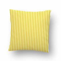 Yellow Stripes Pattern Throw Pillow Case Decorative Cushion Cover - $17.29