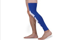 Full Length Knee and Calf Compression Sleeve Set - Blue L/XL - New - £7.03 GBP