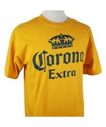 Corona Extra T-Shirt Large Yellow Cotton 2008 Modelo Mexican Beer Brewer... - $15.04