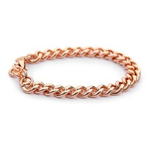 Rose Gold Chain Bracelet 14k Dipped Curb Chain for Women Charitable Chain of Hop - $68.54