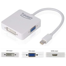 3 in 1 Mini Displayport DP Thunderbolt to HDMI DVI VGA Adapter - $26.72+