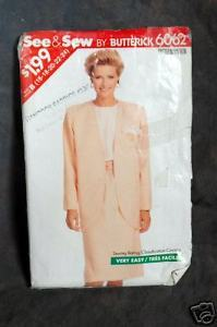 Primary image for Butterick 6062 Misses' Petite Jacket, Top &Skirt Pattern